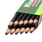 Ficha técnica e caractérísticas do produto Lápis Dermatográfico Redondo Preto Caixa C/12 Un. Mitsubishi