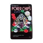 Lata com 100 Fichas Poker Numeradas e Holográficas