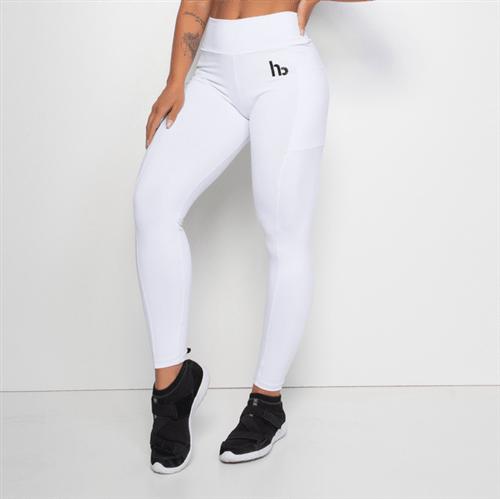 Ficha técnica e caractérísticas do produto Legging Fitness com Bolso Branca LG1292