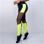 Ficha técnica e caractérísticas do produto Legging Fitness Honey Preta com Verde Neon LG1137