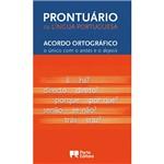 Ficha técnica e caractérísticas do produto Livro - Prontuário da Língua Portuguesa - Acordo Ortográfico