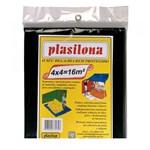Ficha técnica e caractérísticas do produto Lona Plástica 4 X 4 M Preta Plasitap