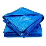 Lona Plástica Carreteiro 4x3 com Ilhóis 105 Gramas Azul - Itap