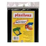 Ficha técnica e caractérísticas do produto Lona Plástica Preta 4x3m Plasitap Plasitap