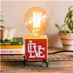 Ficha técnica e caractérísticas do produto Luminária Love