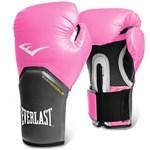 Ficha técnica e caractérísticas do produto Luva 12 Oz Boxe Pro Style Elite Training Rosa com Cinza - Everlast