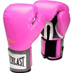 Luva de Boxe Everlast Pro Style 12Oz Pink Velcro Evercool Everfresh Pu
