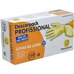 Ficha técnica e caractérísticas do produto Luva de Látex com Pó Profissional não Uso Médico Descarpack Cx/100 Unidades Tamanho M
