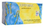 Ficha técnica e caractérísticas do produto Luva Látex G Supermax com 100 Unidades