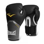 Ficha técnica e caractérísticas do produto Luva Muay Thai Boxe Pro Style Elite - Everlast Preta 12oz