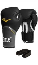 Ficha técnica e caractérísticas do produto Luva Pro Style Elite Preta + Protetor Bucal - Everlast