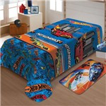 Manta Infantil Mattel Soft Hot Wheels Turbo - Jolitex