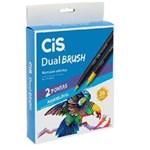 Ficha técnica e caractérísticas do produto Marcador Artístico Dual Brush Aquarelável Cis 36 Cores
