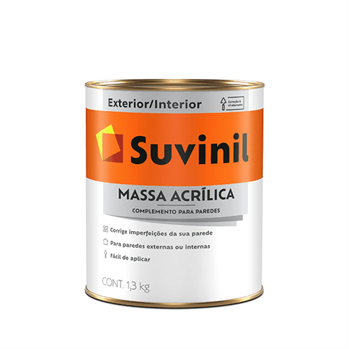 Ficha técnica e caractérísticas do produto Massa Acrilica Suvinil 0,9 Litros