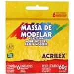 Ficha técnica e caractérísticas do produto Massa Modelar Acrilex 060 G 006 Cores 07060