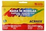 Ficha técnica e caractérísticas do produto Massa para Modelar 12 Cores Base Cera 7012 Acrilex - 1