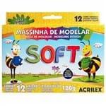 Ficha técnica e caractérísticas do produto Massinha de Modelar 12 Cores Soft Acrilex 1004094