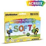 Massinha de Modelar Soft 12 Cores 180g - 06 Unidades - Acrilex