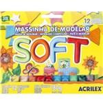Ficha técnica e caractérísticas do produto Massinha de Modelar Soft Acrilex 07312 - C/ 12 Cores