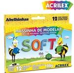 Ficha técnica e caractérísticas do produto Massinha de Modelar Soft Acrilex C/ 12 Cores 07312
