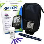 Medidor de Glicose G-tech Freelite Auto Code - 360 Memórias - Preto