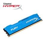 Memória Kingston Hyperx Fury 8gb 1600mhz Ddr3 Blue Series
