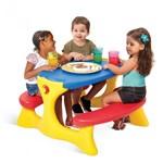 Ficha técnica e caractérísticas do produto Mesa Recreio com 4 Lugares Azul Brinquedos Bandeirante Azul