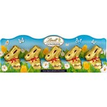 Mini Coelhos de Chocolate ao Leite Gold Bunny In a Row 50g - Lindt