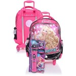 Ficha técnica e caractérísticas do produto Mochila C Roda Média Barbie Rock 64343-08 - Sestini