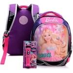 Ficha técnica e caractérísticas do produto Mochila de Costas Infantil Sestini M Rock N Royals Roxa Barbie
