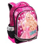 Ficha técnica e caractérísticas do produto Mochila Escolar Infantil G Sestini de Costas Barbie Rock'n Royals - Rosa/Preto