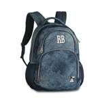 Mochila Escolar Juvenil Laptop RB9266 Rebecca Bonbon em Jeans - Coleção 2019