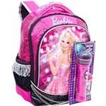 Ficha técnica e caractérísticas do produto Mochila Média Barbie Rock'n Royals Rosa - Sestini