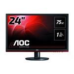 """Ficha técnica e caractérísticas do produto Monitor AOC Entusiasta 24"""" G2460VQ6 LED 1920X1080 Widescreen Preto"""