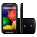 Ficha técnica e caractérísticas do produto Moto e Motorola Desbloqueado Preto Android 4.4 3G/Wi Fi Câmera de 5MP Memória Interna 4GB GPS