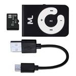 MP3 Player + Micro Sd 8GB MP3 Função Pendrive Multilaser