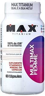 Ficha técnica e caractérísticas do produto Multimax Femme - 60 Cápsulas, Max Titanium