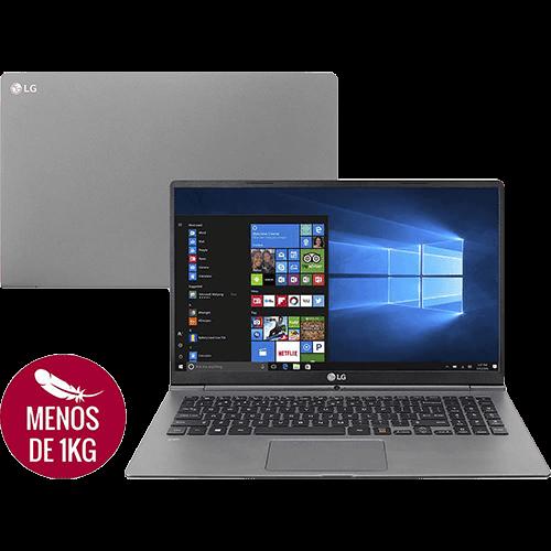 "Notebook LG Gram 15Z970-E.BH71P1 Intel Core I5 8GB 128SSD Tela Full HD IPS 15,6"" Windows 10 - Cinza Escuro"