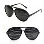 Óculos Furadinho para Correção e Relaxamento das Vistas - Modelo Aviador - Vinkin
