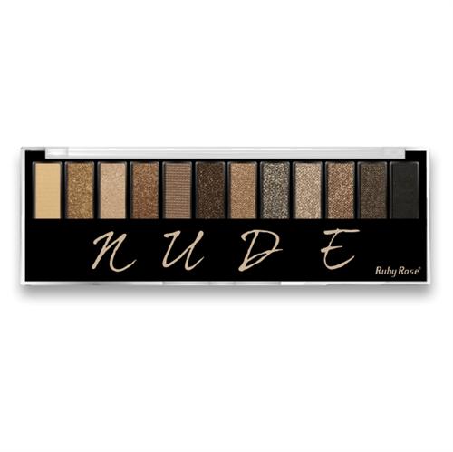 Ficha técnica e caractérísticas do produto Paleta de Sombras Nude Ruby Rose Hb9911