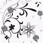 Ficha técnica e caractérísticas do produto Papel Adesivo Contact Floral Monocromático 45 Cm X 10 Metros