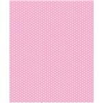 Papel Adesivo Poá Rosa Bebê Plastcover 45 Cm X 2 Mts