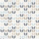 Ficha técnica e caractérísticas do produto Papel de Parede Adesivo Geométrico Bege, Azul e Cinza
