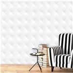 Ficha técnica e caractérísticas do produto Papel de Parede Auto Adesivo Lavável Abstrato Ab0002 3d Branco