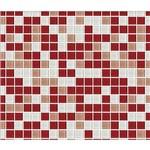 Papel de Parede Auto Adesivo Lavável Pastilha de Vermelho