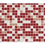 Ficha técnica e caractérísticas do produto Papel de Parede Auto Adesivo Lavável Pastilha de Vermelho