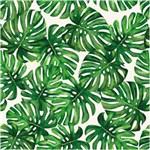 Papel de Parede Bobinex Folhagem Costela de Adão Verde Claro