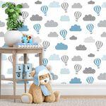 Ficha técnica e caractérísticas do produto Papel de Parede Infantil Balões Cinza e Azul