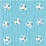 Ficha técnica e caractérísticas do produto Papel de Parede Infantil Futebol Azul