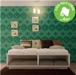 Ficha técnica e caractérísticas do produto Papel de Parede Vinilizado Abstrato Verde Rolo com 10m